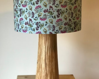 Duck Egg Blue Floral Hedgerow Drum Lampshade
