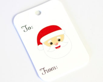 Christmas Tags, 36 Christmas Tags, Santa Christmas Gift Tags (RR-511)