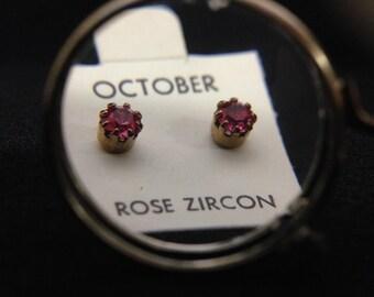 Vintage 1960's Birthstone Earrings - OCTOBER (ABX1D)
