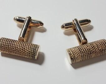Vintage DANTE Cuff-links Gold Tone Metal/1960's/ Men's Jewelry/Vintage Jewelry