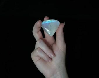 Large Moonstone Cabochon Heart // 118.5 carats // teardrop shape, pear, blue flash, magical stone // 80