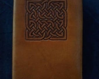 Celtic Leather Journal Large Interlaced Square