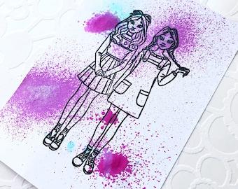Best Friends Polymer Stamp