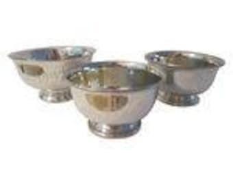Pewter Engraved Bowls - Set of 3