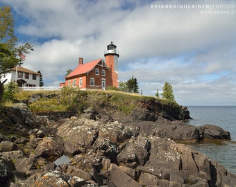 Eagle Harbor Lighthouse Clouds - Michigan Photography