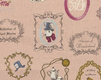 Alice in Wonderland fabric by Kokka (canvas). SK070