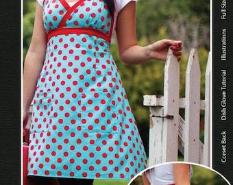 SALE The Palooza Apron sewing pattern and a dish glove tutorial