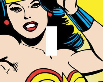 Wonder Woman Single Light Switch Plate Cover