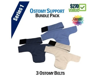 PouchWear Ostomy Support Bundle Pack | Series One: 3 Belts