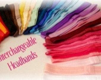 YOU CHOOSE 10 pack elastic headbands-Interchangeable