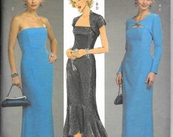 Misses Long Evening Dress With Shrug, Sizes 6 Thru 12, New Butterick Pattern 4731