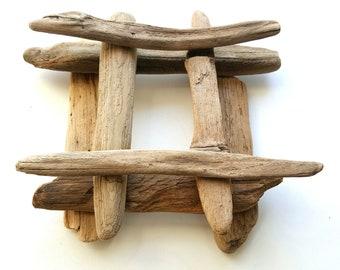 8 Flat Driftwood pieces, Driftwood Art Supplies, DIY Driftwood 6.7'' - 8.5''