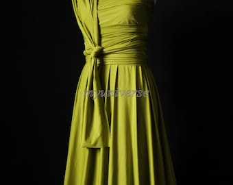 Wedding Dress Bridesmaid Dress Infinity Dress Wrap Formal Dress Light Olive Green Girl Dress