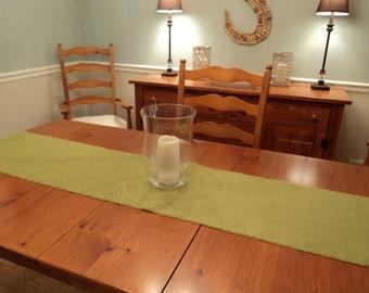 Apple Green Burlap Table Runner Avocado Burlap Runner Choose Your Length or  Custom Sizes Available Rustic Chic Home Decor