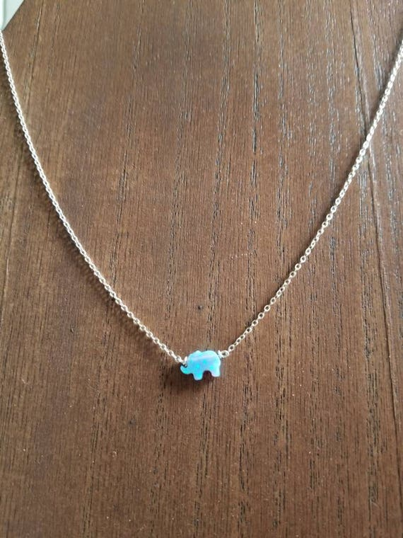 Sterling Silver Opal Charm Necklace