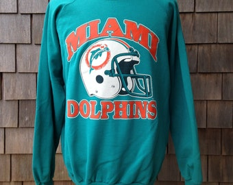 80s vintage Miami Dolphins sweatshirt by Trench - Large / XL