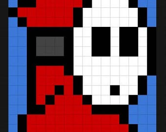Shy Guy Pixel Pillow Cover