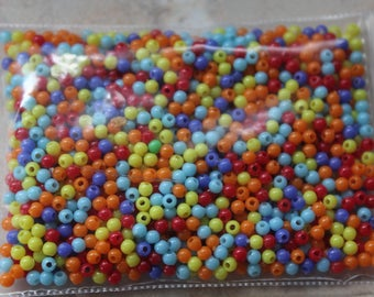 Assorted seed beads 2mm round