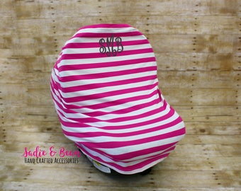 Nursing cover, Carseat cover, 4-in-1 Stretchy Baby Nursing Cover, Car Seat Canopy, and Shopping Cart Cover, monogrammed, personalized, baby