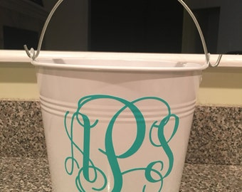 Monogrammed Easter Basket, Personalized Easter Basket, Metal Easter Bucket, Custom Easter Basket