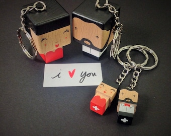 Porte-clés couple chic - amoureux - Saint-Valentin
