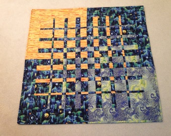 Cosmic Convergence Wall Hanging, Children's Quilt, or Lap Quilt - Celestial Series