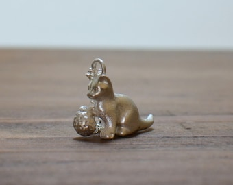 Silver Cat necklace, Sterling silver animal necklace, Cat lovers gift, Cat pendant, Cat charm necklace, Silver animal jewelry