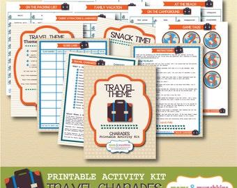 Printable Charades - Travel Theme