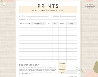 order form template photography order form photography forms purchases orders template for