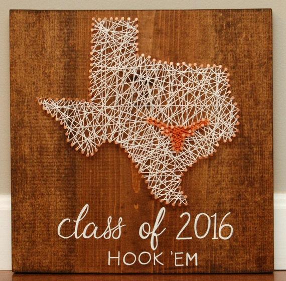 Texas Longhorn Texas String Art Nail Art Teacher Gift