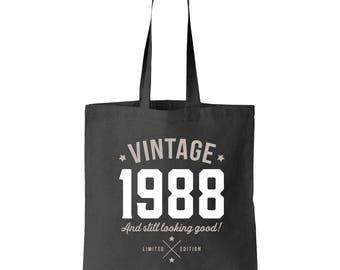 30th Birthday, 30th Birthday Idea, 30th Birthday Bag, Tote, Shopping Bag, Great 30th Birthday Present, 30th Birthday Gift 1988 Birthday