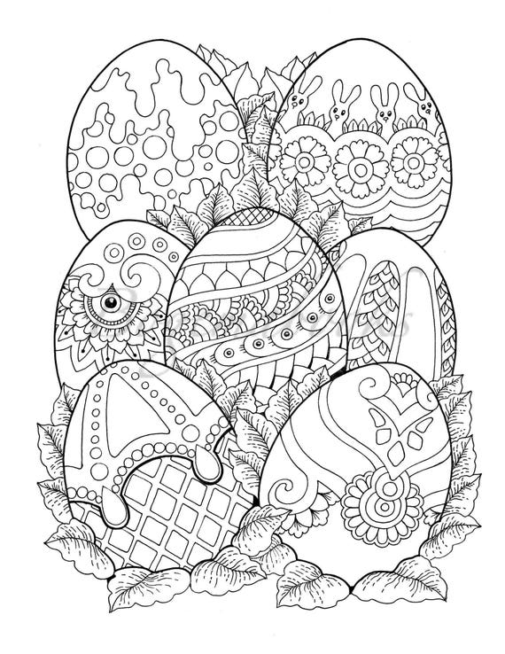 Nice Little Town Easter: Adult Coloring Book Coloring pages