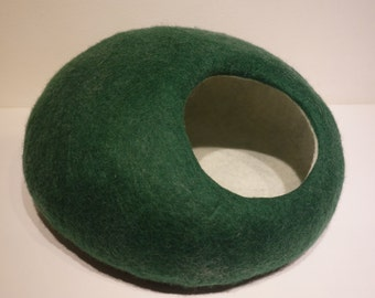 Hand Felted  Cat Bed / Cat Cave / Cat Den / Cat House / Cocoon and GIFT