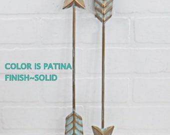 Patina Arrow /  Arrow Decoration / Wall Arrow Decor / Arrow Nursery Decor