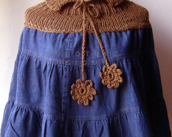 The Old-Meets-New / REPURPOSED Denim Knit Poncho
