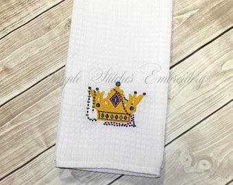 Mardi Gras Crown Kitchen Towel