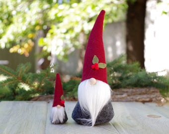 Nordic Gnomes SET, Mini and Large Gnome, ALISTAIR, Gnomes, Tomte, Elf, Elves, Santa, Nisse, Nordic Gnomes, Scandinavian Gnomes, Mini Gnomes