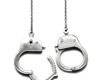 Steel Handcuff Necklace