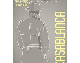 Movie poster Casablanca retro print in various sizes