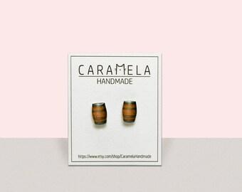Wine Barrel Stud Earrings Jewelry Gift idea