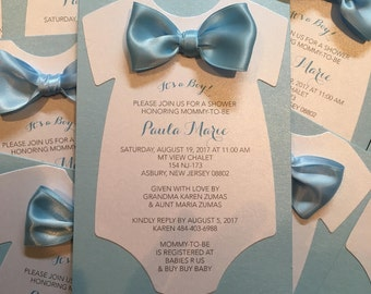 Baby Shower Invitation Onesie Invitation Baby Shower Diaper Invitation Onesie Invitation Bowtie Invitation Bowtie Theme Mustache Invitation