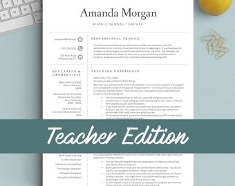 Teacher resume etsy altavistaventures Images