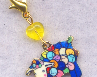 Sheep Stitch Marker Clip Yarn Ball Enameled Rainbow Single /SM01E