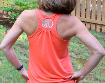 Monogrammed Bella Flowy Tank Top-- FIVE  NEW COLORS
