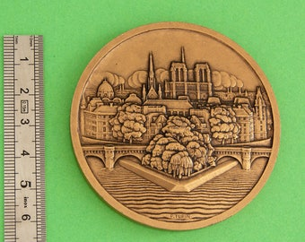 Île de Paris - La Cité - P. Turin Medal - French Bronze Medal - 1927 - Collectible Medal