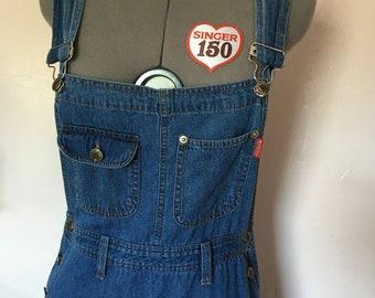 Vintage Denim Overalls Dress