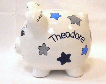 Piggy Bank Personalized with Stars