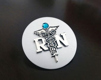 RN Nursing Personalized Birthstone Nurse Graduation Gift for Nurse Students Registered Nurse Pin