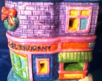 Christmas Ceramic Corner Restaurant