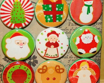 Christmas Cookies Magnets one inch